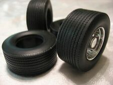 RUBBER/RESIN BIG RIG REAR TIRES 1/24TH SCALE-HIGHWAY TREAD