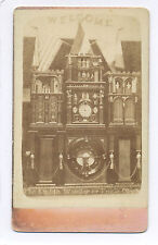 1880's ENGLE MONUMENTAL CLOCK, 8TH WONDER OF WORLD, CDV PHOTO