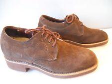 Vintage 1960s Brown Suede Leather Shoes Rockabilly Retro Teddy Boy Sport Men 6.5