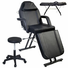 NEW ADJUSTABLE PORTABLE MEDICAL DENTAL CHAIR W/STOOL COMBINATION BLACK
