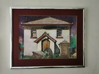 Original Painting by Evelyn Brearley Framed Welsh Naive Art. Very MCM Look/Stye
