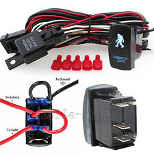 12V On/Off Blue Laser Sasquatch Light Rocker Switch Kit with Relay Wiring Harnes