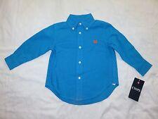 Chaps Toddler Boys Long Sleeve Blue Pink Yellow Dress Shirt 2T 3T 4T NEW $30