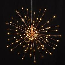 Copper Starburst Lights-30cm -120 LED Indoor/Outdoor-Built In Timer-Battery Oper
