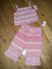 Girls NWT VERDE & MELA (ITALIAN) Neiman Marcus  2 Piece Capri Outfit Sz 5