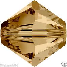 SWAROVSKI 5328 XILION Bicone Beads 4mm: Light Colorado Topaz (50 Perline)