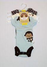 NWT Child of Mine (Carter's) 3pc Monkey & Stripes Bodysuits, Preemie