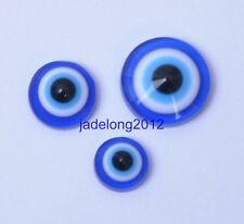 50/100PCS Loose Beads Jewelry Flatback Cabochon Blue Acrylic Evil Eye 6 8 10mm