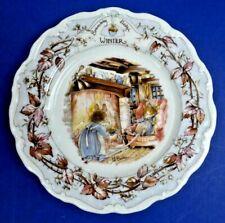 Vintage Royal Doulton Brambly Hedge Winter Plate ~ Jill Barklem 1982