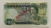 Jersey 10 Pounds 1976 MALTESE CROSS Banknote SPECIMEN UNC