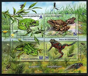 2015. Belarus. Amphibians.M/sheet. MNH