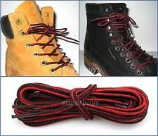 Red Black 90cm Timberland Hiking Trekking Shoe Work Boot Laces Trek Hike 3 Eye