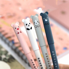 4 x Cute Kawaii Cartoon Cat Gel Ink Pen Ballpoint 0.35mm Blue Ink Student Pens