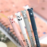 2pcs Cute Kawaii Cartoon Cat Gel Ink Pen Ballpoint 0.35mm Black Ink Student Pens