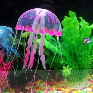 Fish Tank Aquarium Artificial Glowing Jellyfish Coral Ornament Water Float Decor