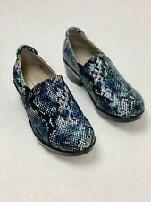 NATURALIZER @ Work Ortholite NEW $99 Leather Snake Print Clogs Shoes Size 7 W