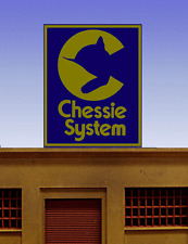 Chessie System Super Animated Neon Billboard Sign -Ho-Scale Or Large N-Scale!