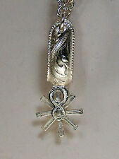 Western Sterling Silver Plated Spur Key Chain/Large