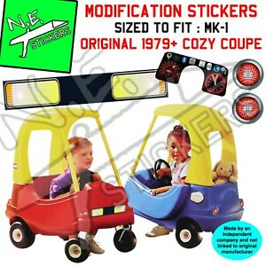 Replacement stickers TO FIT Little Tikes Cozy Coupe Mk-1 80's car ride-on kids