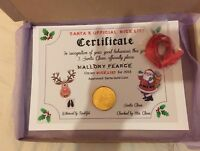 Personalised Santa Nice List Certificate A4 A5 Christmas Eve Box Stocking Filler
