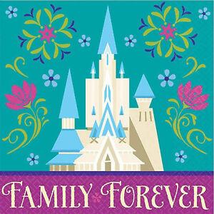 DISNEY FROZEN PARTY Family Forever Beverage Napkins Serviettes Pack of 16