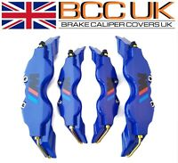 NEW Blue Brake Caliper Covers DIY Kit Black ///M Logo Front Rear 4xM+S fits BMW