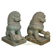 Chinese Antique Qing era Porcelain Foo Dog - Pair 16LP106