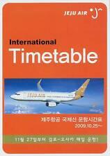 Jeju Air Timetable  October 25, 2009 =