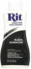 RIT DYE Liquid Fabric Dye Black To Dye Clothing And Accessories 8 fl. oz. 236 ml