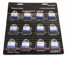 "50 MM Padlock Keyed Alike - 2"" Padlocks 12 Count"