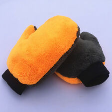 Modern Double Side Plush Microfiber Dust Remove Mitt Cleaning Buffing Gloves