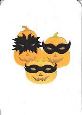 Papyrus Halloween Card Nip Msrp $6.95 Masked Pumpkins Card (C4)