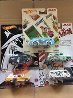 HOT WHEELS DIECAST Pop Culture MAD Set Of 5 '64 Chevy Nova Panel, '66 Dodge A100