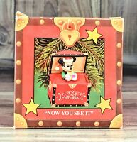 "Enesco Treasury Christmas Ornaments ""Now you see it"" Mickey Mouse *FREE SHIPPING"