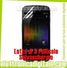 SAMSUNG Galaxy Nexus I9250 lotto di 3 PELLICOLA Professionale SALVA SCHERMO LCD