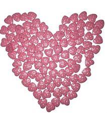 10x pink polka dot resin flat back heart buttons 15mm sewing craft scrapbooking
