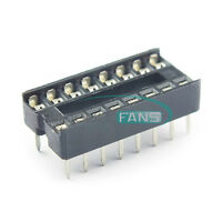 50PCS DIP-16 IC Socket Adaptor Solder Type Socket Pitch Dual Wipe Contact NEW