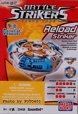 Mega Bloks Battle Strikers Turbo Tops Reload Striker Gauntlet Spinning Top - NEW
