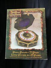 DISNEY PIRATES OF THE CARIBBEAN PORTABLE CD PLAYER w/ DUAL HEADPHONE JACK NEW