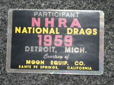 NHRA 1959 National Championship Participant Decal Sticker Gasser Hotrod Moon