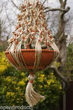 Hanging Decoration Natural Jute Pot Holder Plant Hanger Handicraft Gardening