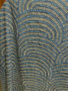 Threshold TARGET Shower Curtain 72x72100% Cotton Batik Print~Blue/Gray~Nice