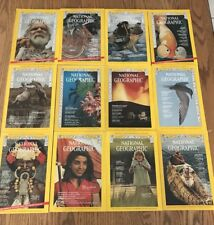1973 Complete Year of National Geographic Magazine, January-December, Set of 12
