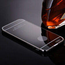 Luxury Metal Bumper Ultra-thin Mirror Back Case Cover For Iphone 5/5S Black