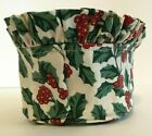 Longaberger 1999 Christmas Tree Trimming Peppermint Basket Liner - Holly - SU