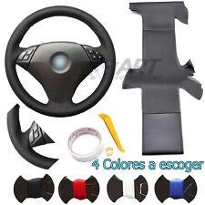 Funda de volante a medida en cuero negro para Bmw E60 E61 Serie 5 sin pack M
