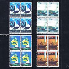 1981 - Australia - Australian Yachts Yachting - set of 4 x blocks of 4 - MNH