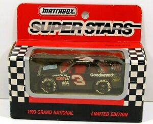 1993 MATCHBOX SUPER STARS # 3 DALE EARNHARDT CHEVY 1:64 LIMITED EDITION NEW