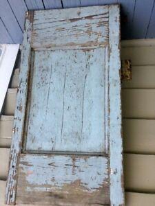 19TH C RAISED PANEL HEART PINE CUPBOARD DOOR MORTISE/TENON BLUE CHARLESTON SC
