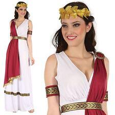 Ladies Greek Roman Grecian Goddess Toga Fancy Dress Outfit Womens Adult Costume